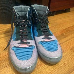 Balenciaga Shoes - Balenciaga Paneled High Top Sneakers